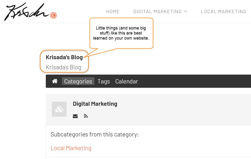 EasyBlog configuration options